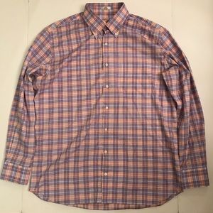Mens PETER MILLAR MULTICOLOR Plaid Button Down